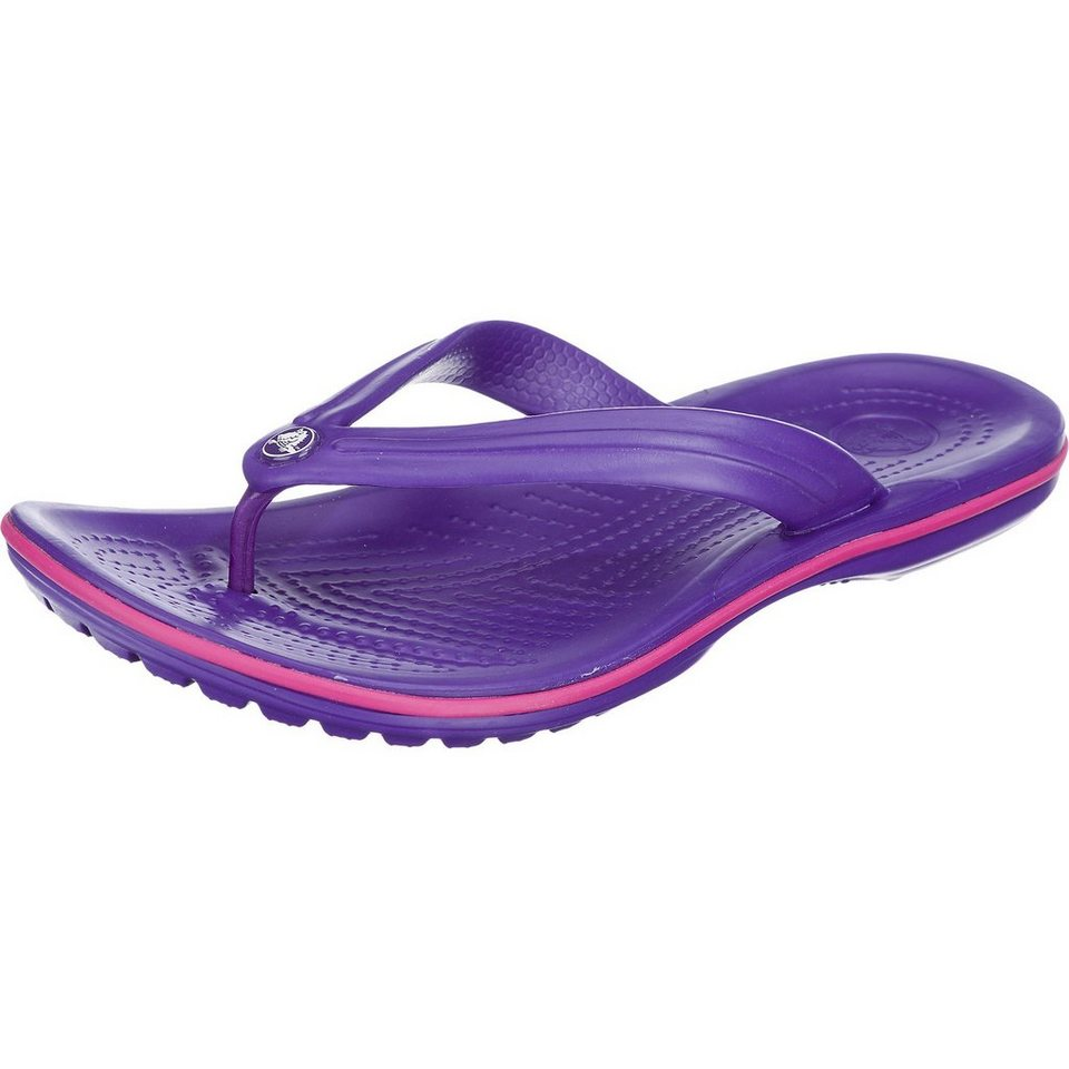 CROCS Crocband Flip Pantoletten in violett