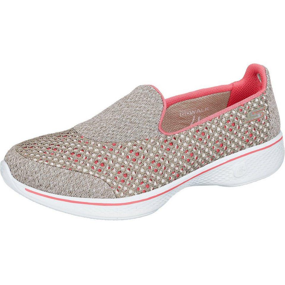 SKECHERS Go Walk 4 Kindle Sneakers in grau-kombi