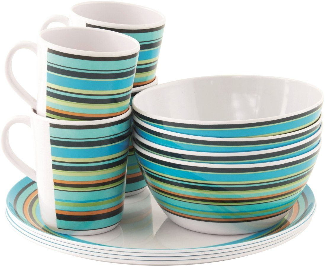 easy camp Camping-Geschirr »Java Melamine Set 4 Persons«