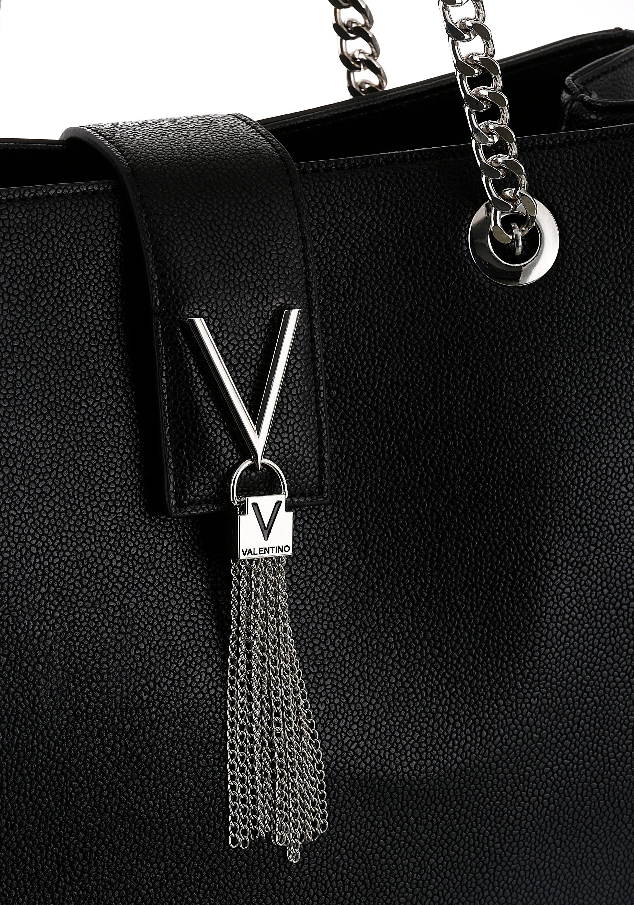 Mit »divina« Tragehenkel Im Ketteneinsatz Modischen Valentino Henkeltasche Handbags fxvtSS