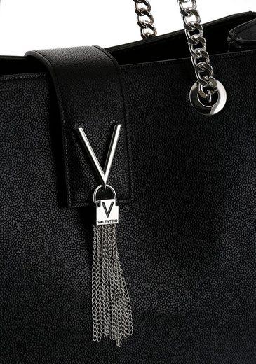 Ketteneinsatz Valentino Henkeltasche Im Modischen Tragehenkel Handbags Mit »divina« rOOn7XR