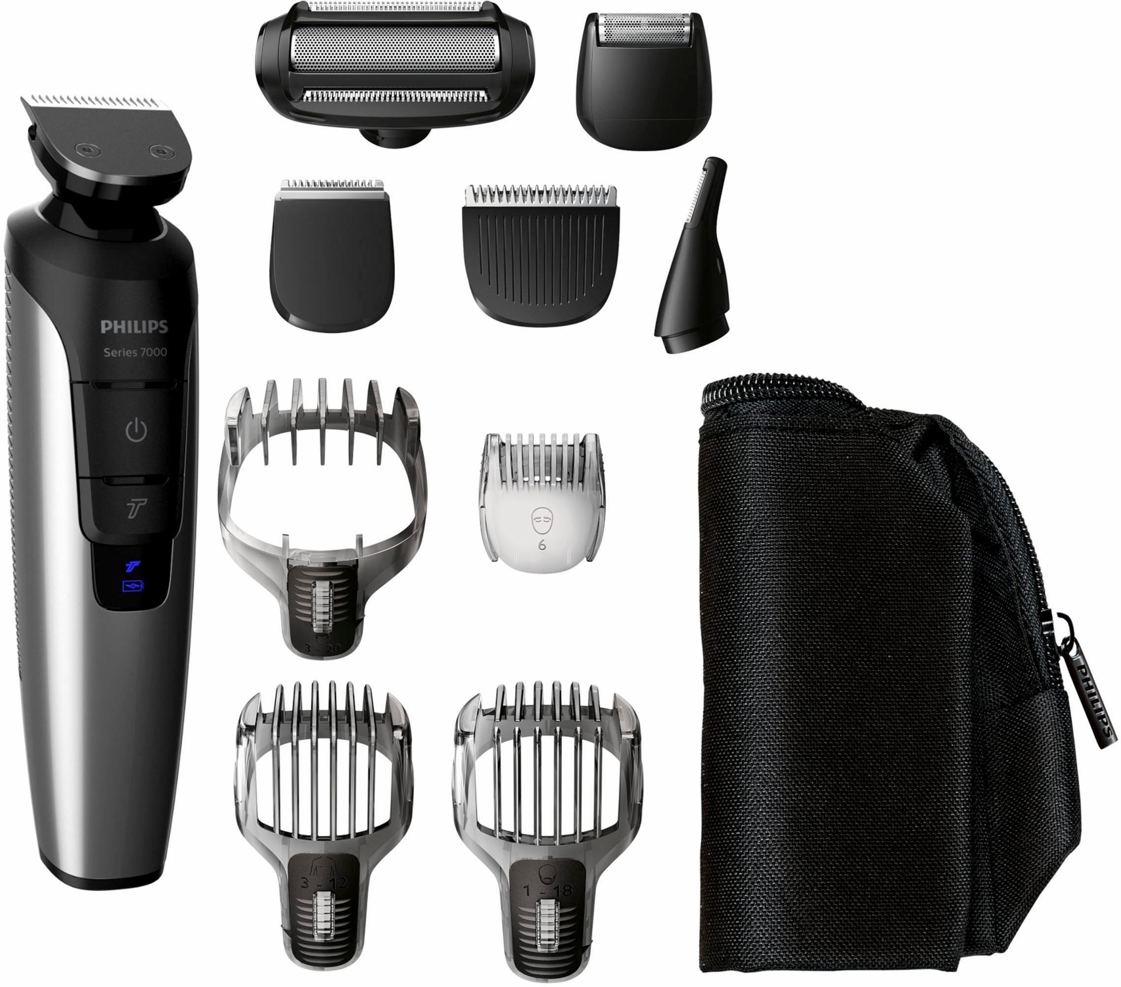 Philips Bart- und Haarschneider Set Series 7000 QG3398/15, Multigroom, schwarz-silber