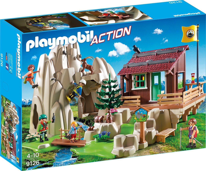 Playmobil® Kletterfels mit Berghütte (9126), »Action«