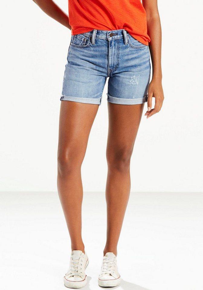 Levi's® Shorts »505C« mit Used-Effekt in mid-blue-used