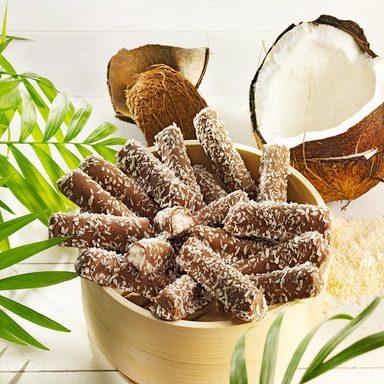 Sanbeam Cocos-Stäbchen in Vollmilchschokolade