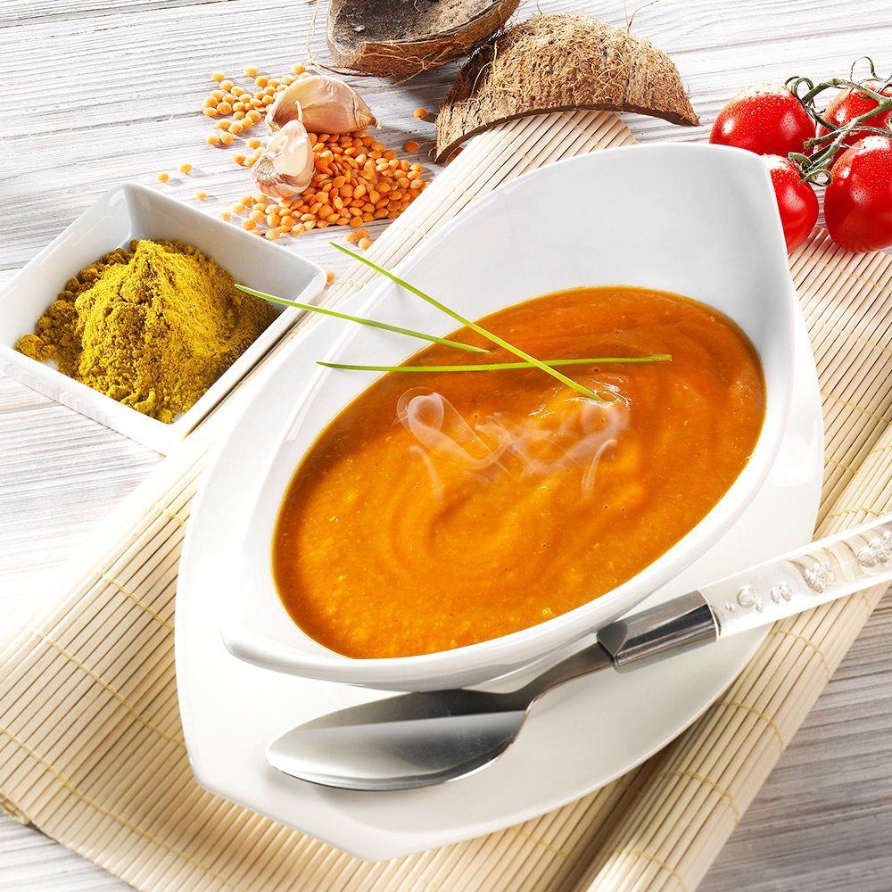 WDM Rote Linsensuppe Curry-Kokos Bio vegan