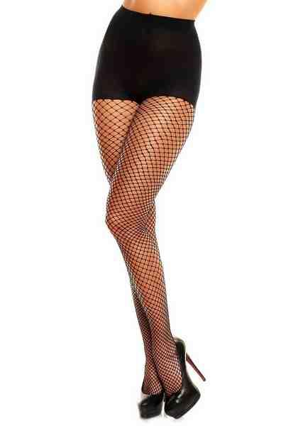 Glamory Netzstrumpfhose mit verstärktem Höschenteil mit Fußspitze