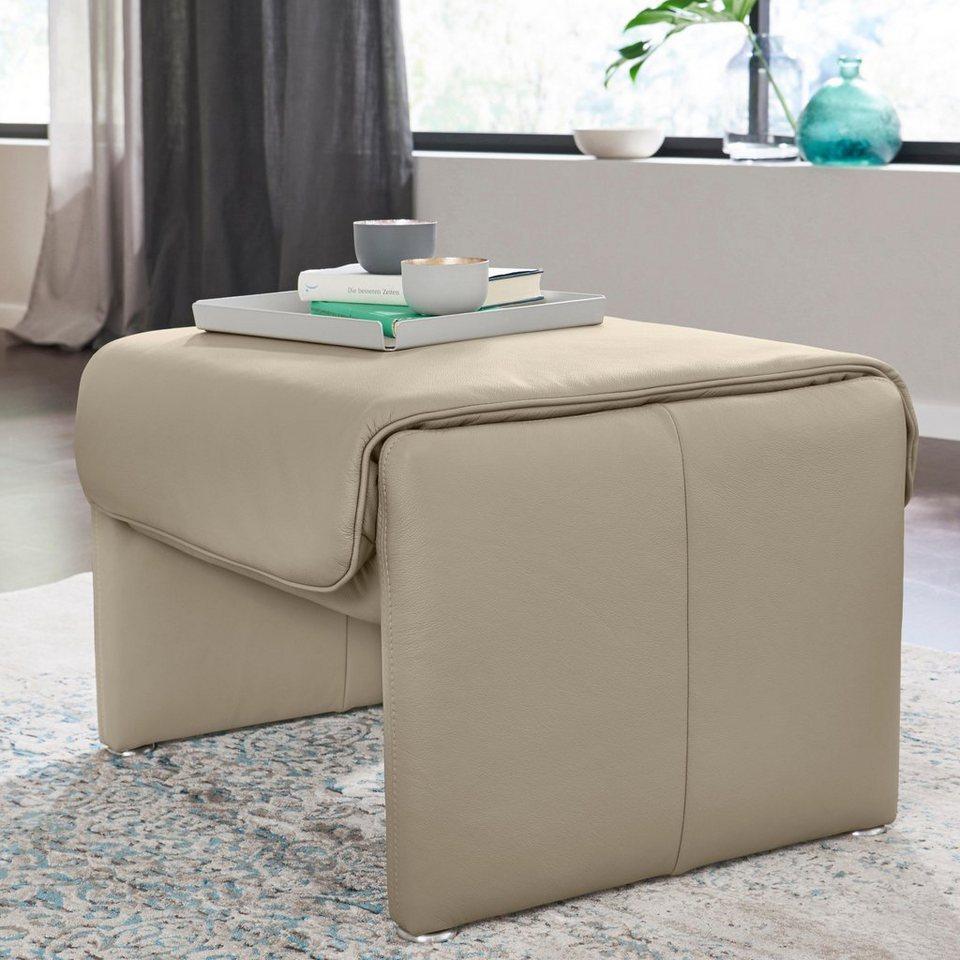 w schillig lederhocker prinzess mit eleganter. Black Bedroom Furniture Sets. Home Design Ideas