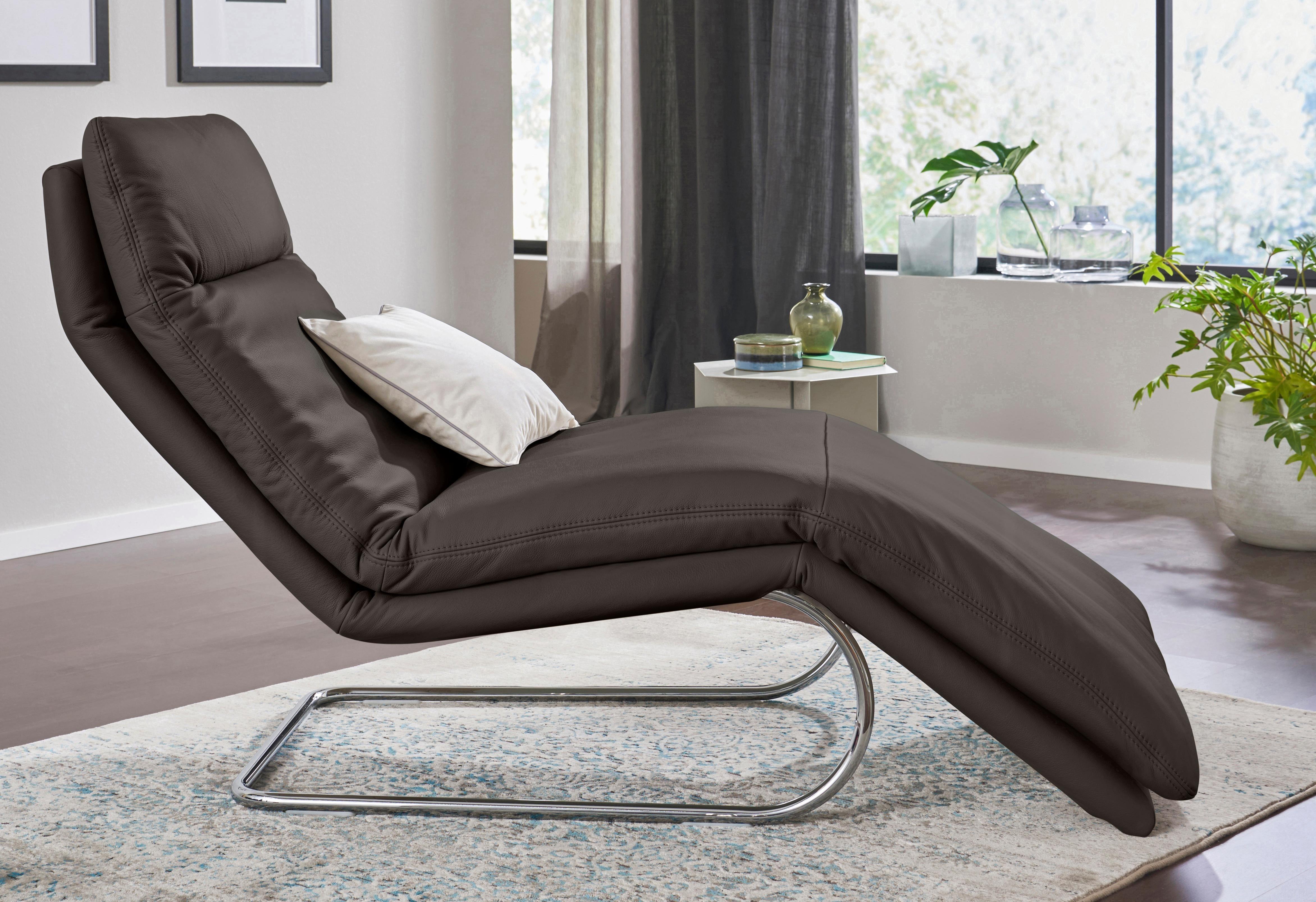 W.SCHILLIG Relaxliege »jill« mit Wippfunktion, inklusive Rücken-, Fußteil- & Kopfteilverstellung | Wohnzimmer > Sessel > Relaxliegen | Leder | W.SCHILLIG
