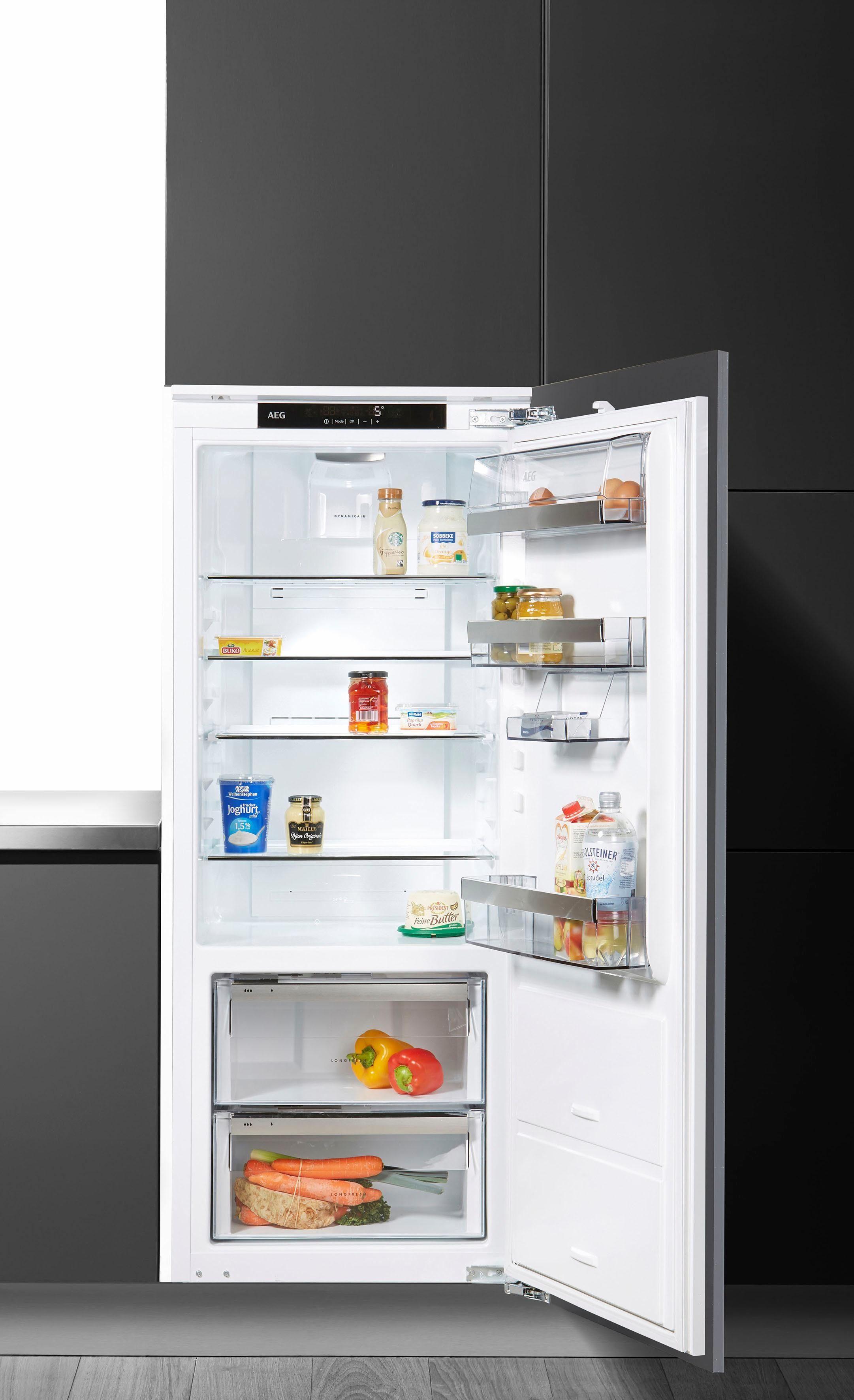 AEG integrierbarer Einbau-Kühlschrank SANTO SKE81436ZC, A+++, 140 cm hoch