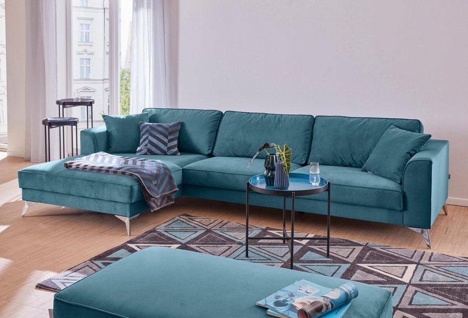 GMK Home & Living moderne Polsterecke »Juta«, mit hochwertigen ...