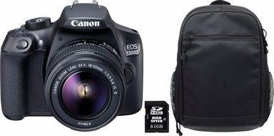EOS 1300D 18-55 IS Spiegelreflex Kamera + Rucksack CB-BP100 + 8 GB SD-Karte Class 10