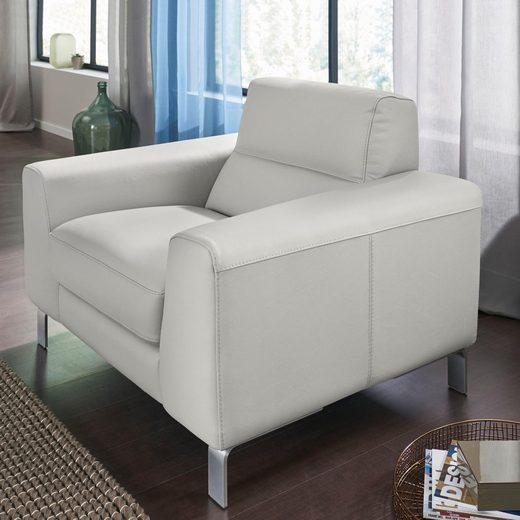 CALIA ITALIA Sessel »Simon«, in zwei Lederqualitäten