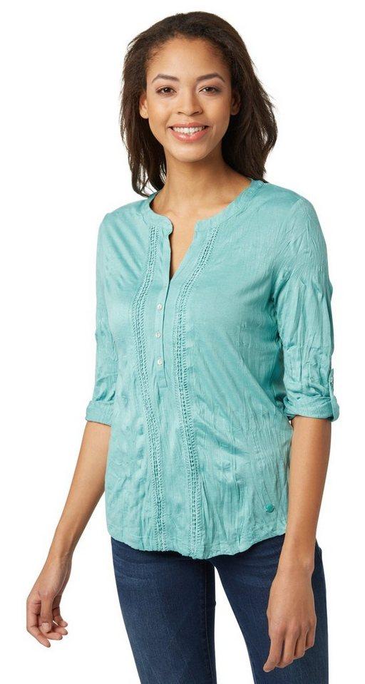 tom tailor t shirt blusenshirt mit knitter effekt online. Black Bedroom Furniture Sets. Home Design Ideas
