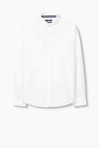 ESPRIT Hemd mit Button Down-Kragen, 100% BW