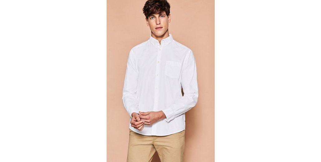 ESPRIT Hemd mit Button Down-Kragen, 100% BW