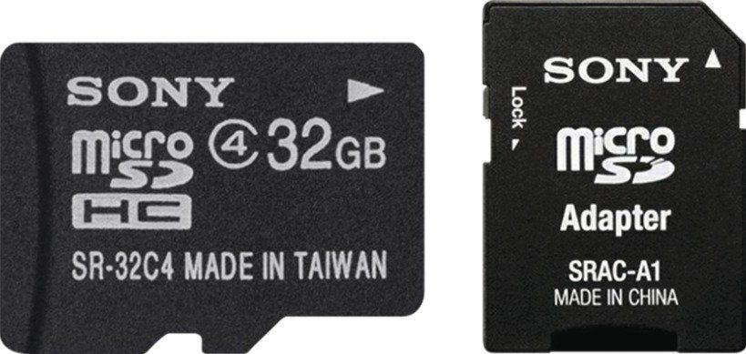 Sony 32 GB microSDHC mit Standard Adapter »SR32A4«
