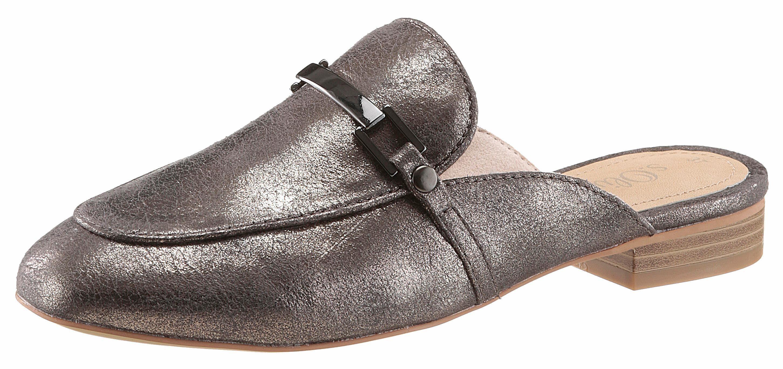 Tom Tailor Clog, in trendiger Metallic-Optik, silberfarben, EURO-Größen, silberfarben
