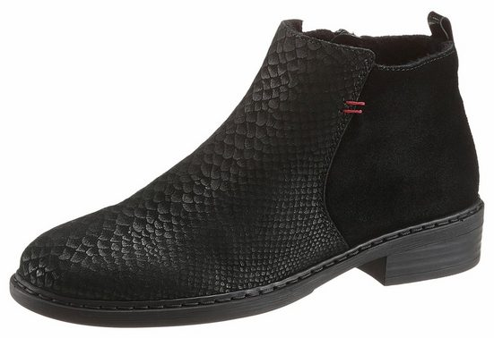 Rieker Ankle Boot, With Reptile-stamping