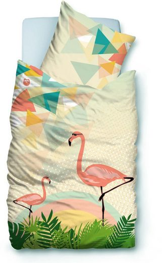 bettw sche sue os flami mit coolen flamingos otto. Black Bedroom Furniture Sets. Home Design Ideas