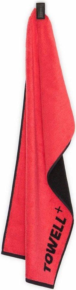 Handtuch, Stryve, »Towell+«, aus 'Die Höhle der Löwen' in rot-schwarz