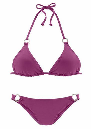 Chiemsee Triangel-Bikini mit Zierringen an Cup und Hose