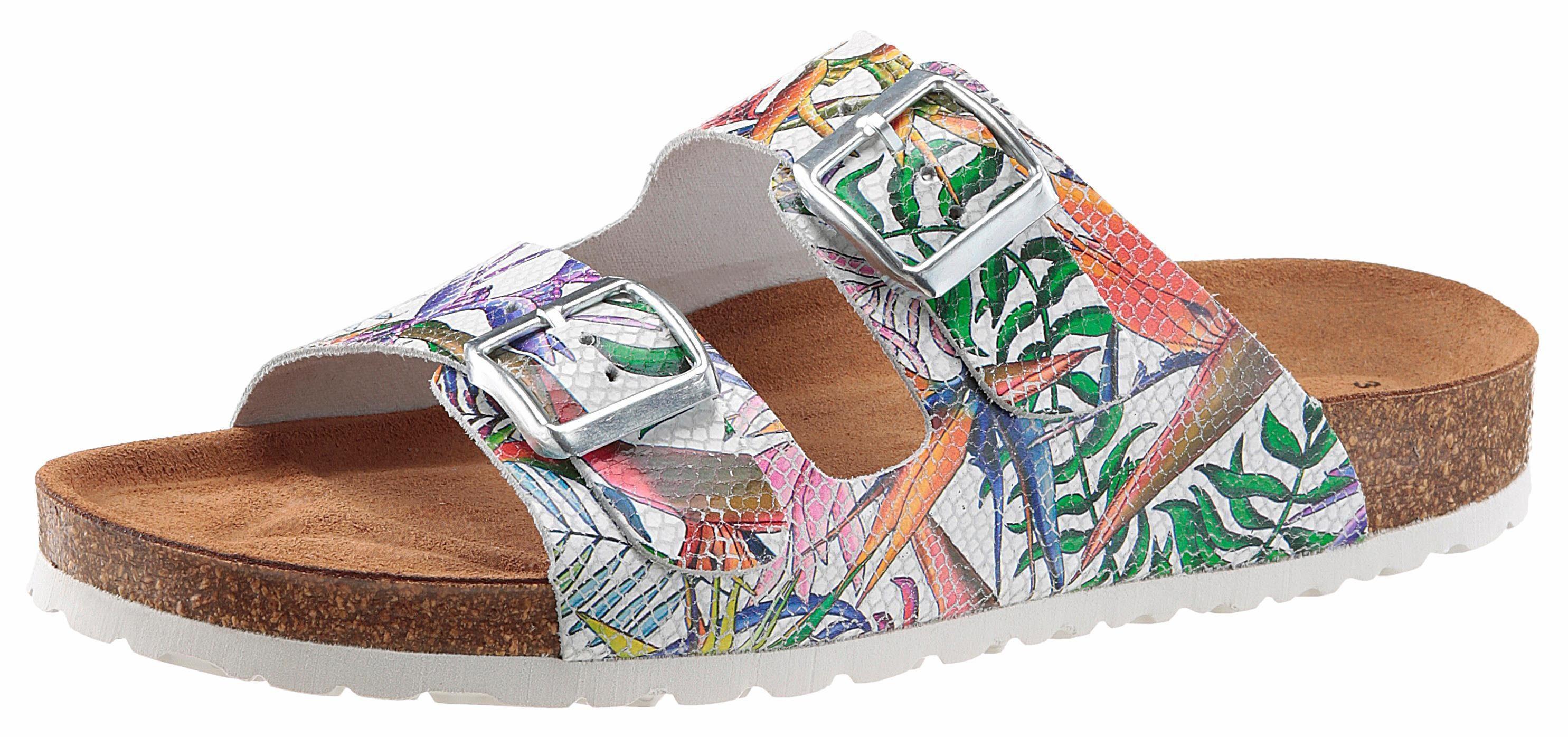 Tamaris Pantolette mit tropischem Muster kaufen