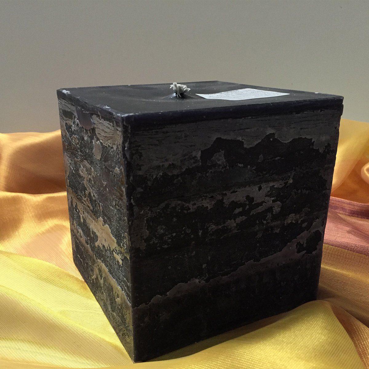 Moonlights Moonlights Jumbo-Kerze 15x15x15cm schwarz 1 Docht