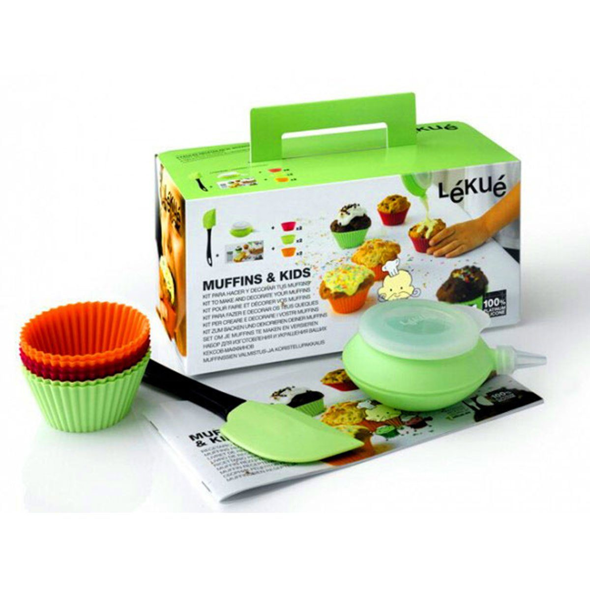 LEKUE Lekue Kinder-Backset MUFFINS KIDS - 9-teilig