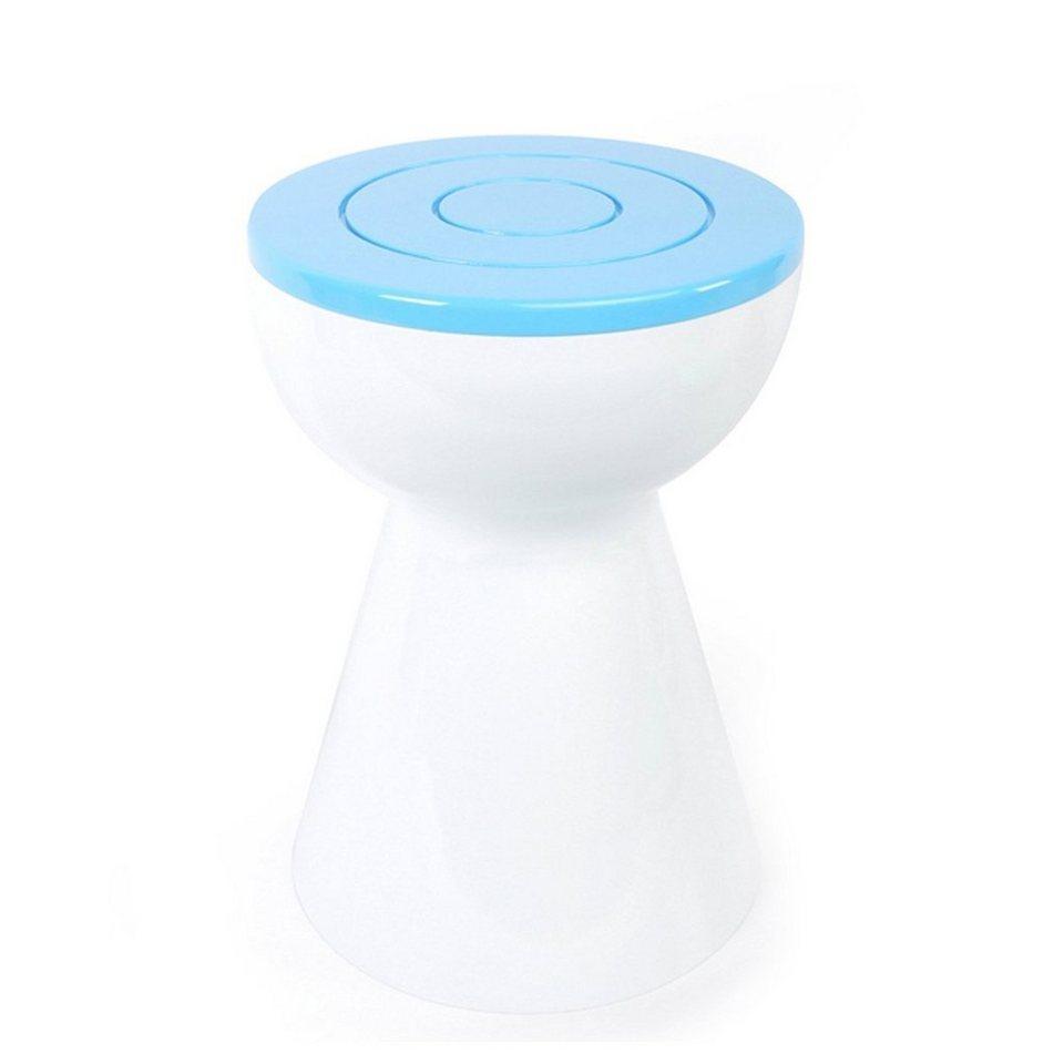 XLBoom XLBOOM Beistelltisch Boto, weiß/Himmelblau in weiß, Himmelblau