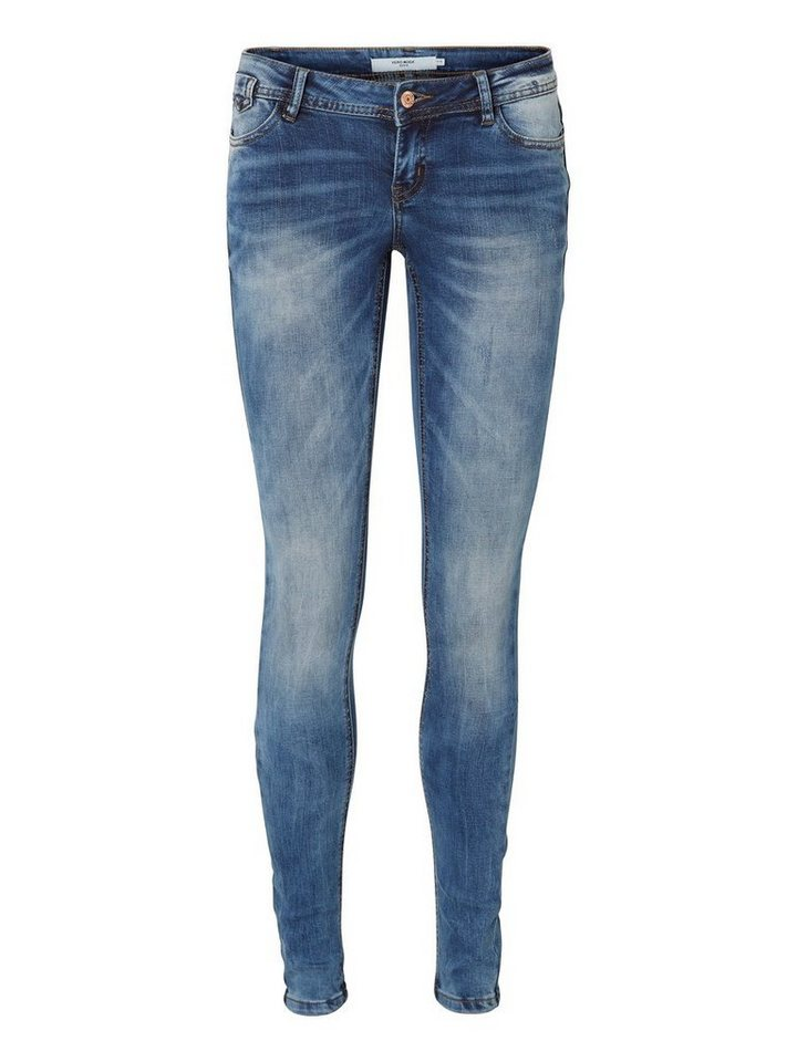 Vero Moda One SLW Skinny Fit Jeans in Medium Blue Denim