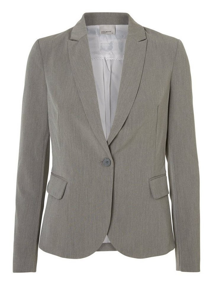 Vero Moda Klassischer Blazer in Medium Grey Melange
