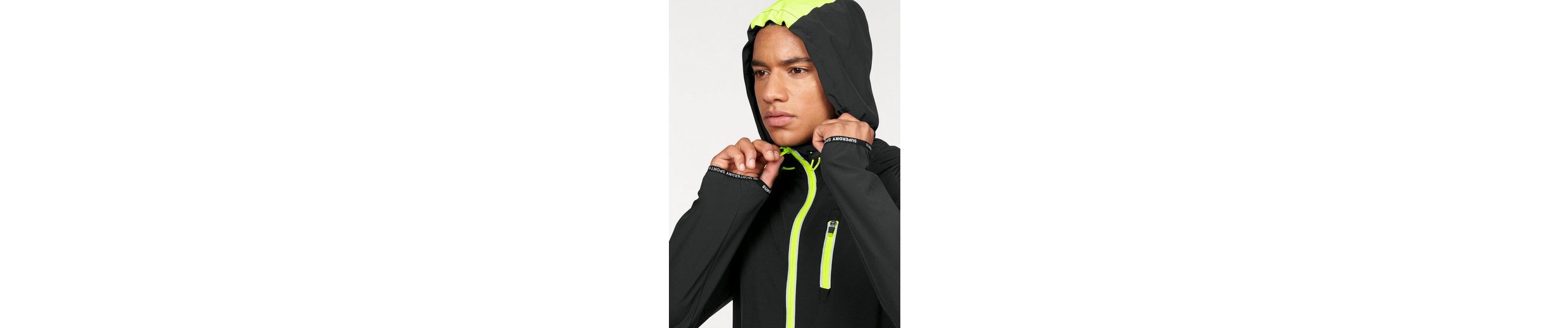 Superdry Trainingsjacke SPORTS ACTIVE FLASH RUN SHELL, Daumenloch
