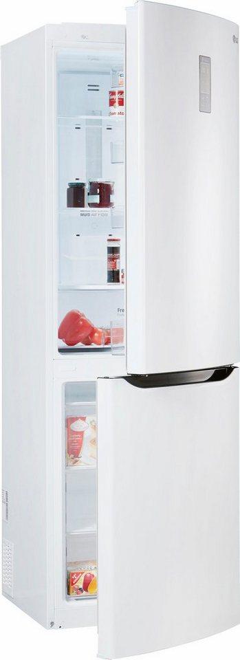 LG Kühl-Gefrierkombination GBB339SWDZ, Energieklasse A++, 190 cm hoch, No Frost in premium weiß