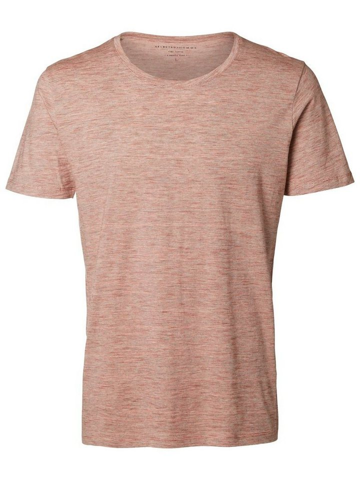 SELECTED Pima-Baumwoll T-Shirt in Tandori Spice