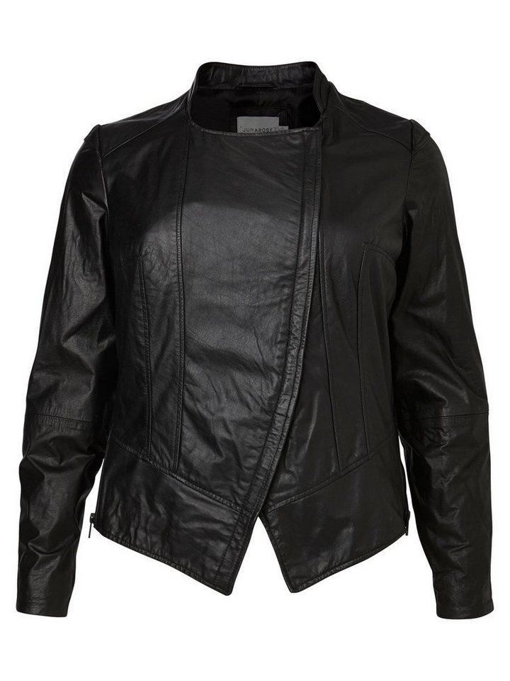 JUNAROSE Leder- Jacke in Black