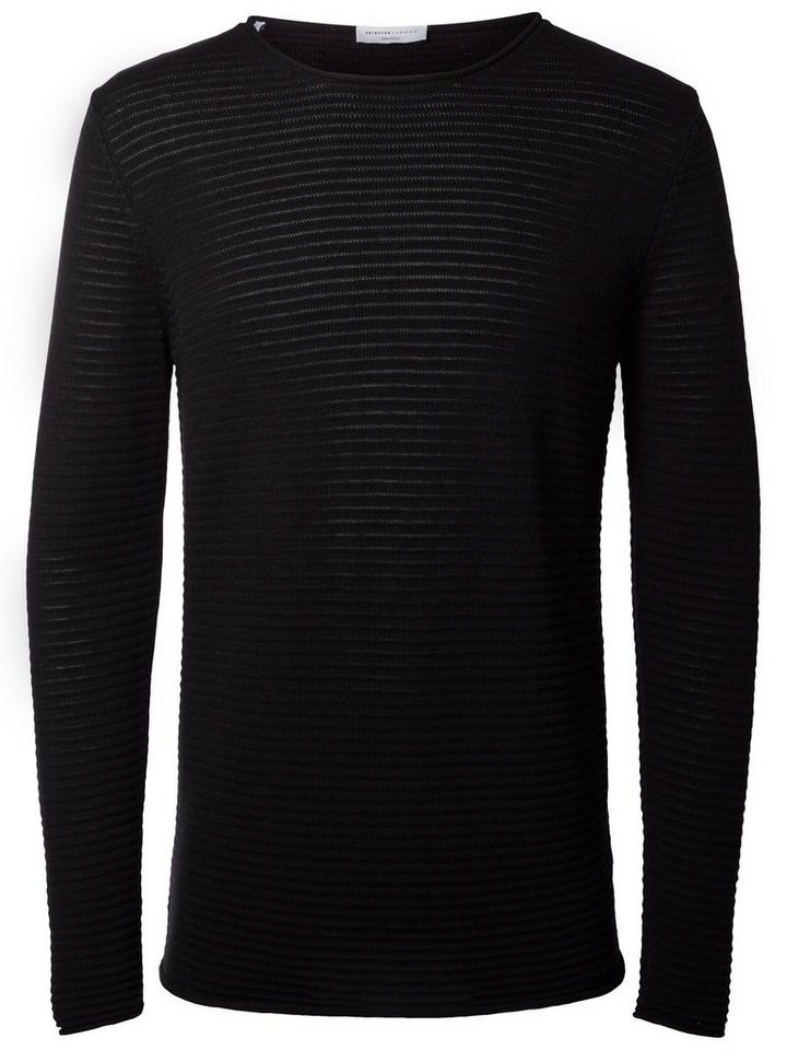 SELECTED Crew neck- Strickpullover in Black