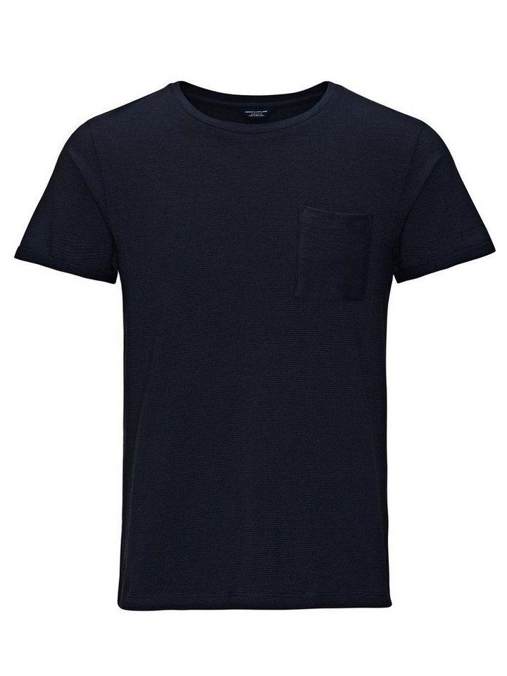 Jack & Jones Gemustertes Ein-Taschen T-Shirt in Navy Blazer