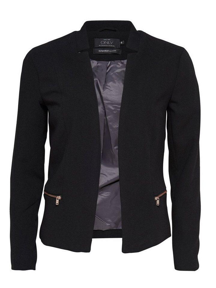 Only Reißverschlussdetail- Blazer in Black