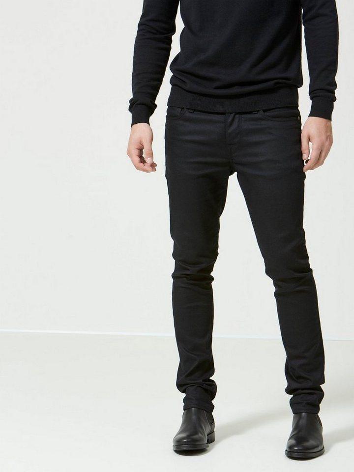 SELECTED Schwarze Skinny Fit Jeans in Black