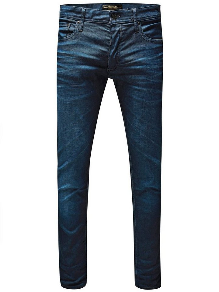 Jack & Jones Tim Classic JJ 820 LID Slim Fit Jeans in Medium Blue Denim