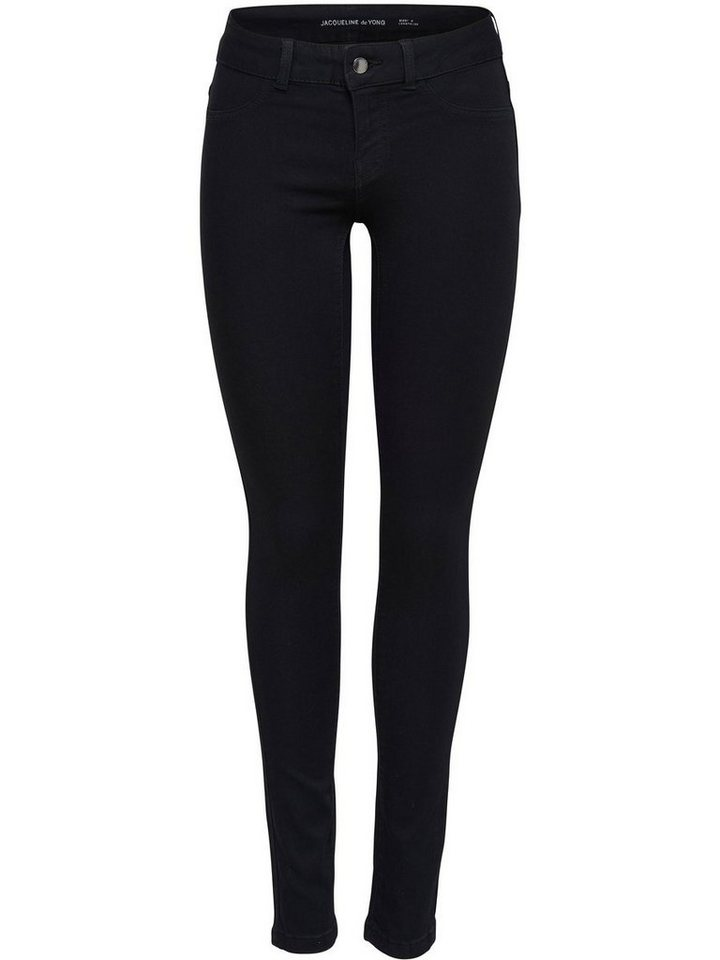 Only Fano Low Skinny Fit Jeans in Black Denim