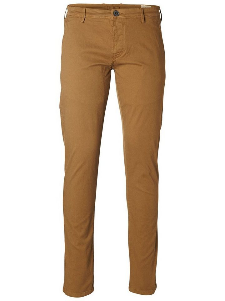 SELECTED Skinny-Fit- Chino in CAMEL
