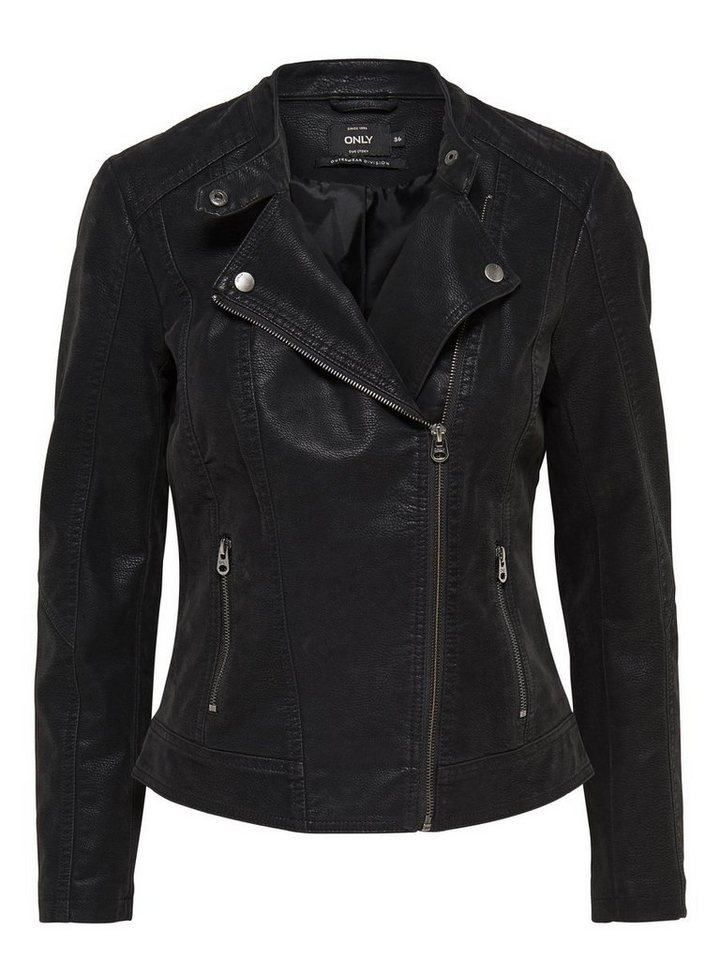 Only Biker-Lederlook- Jacke in Black