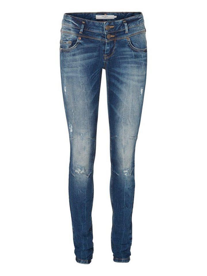 Vero Moda Five LW Skinny Fit Jeans in Medium Blue Denim