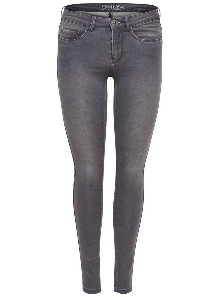 Only Royal reg. Skinny Fit Jeans in Medium Grey Denim