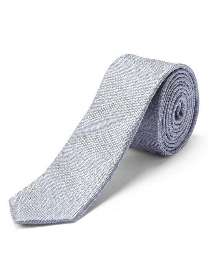 SELECTED Sel - Seide, Textur Krawatte in Light grey