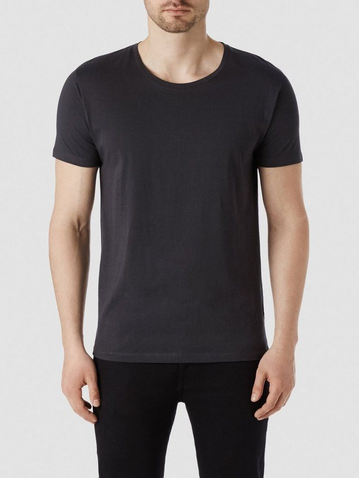 SELECTED SHPima New Dave T-Shirt in Phantom