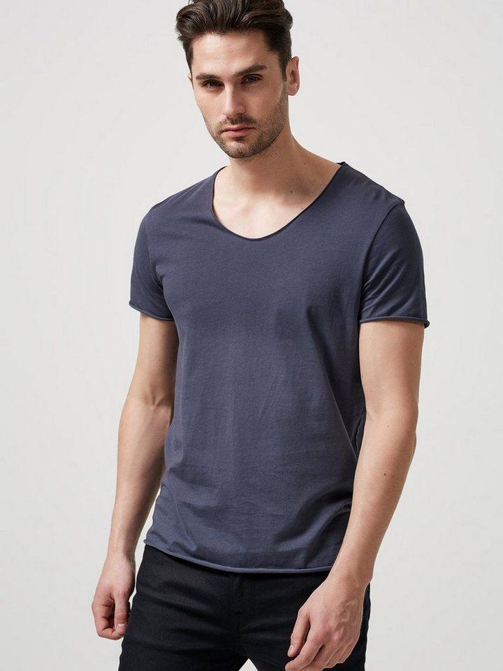 SELECTED Rundausschnitt T-Shirt in Ombre Blue