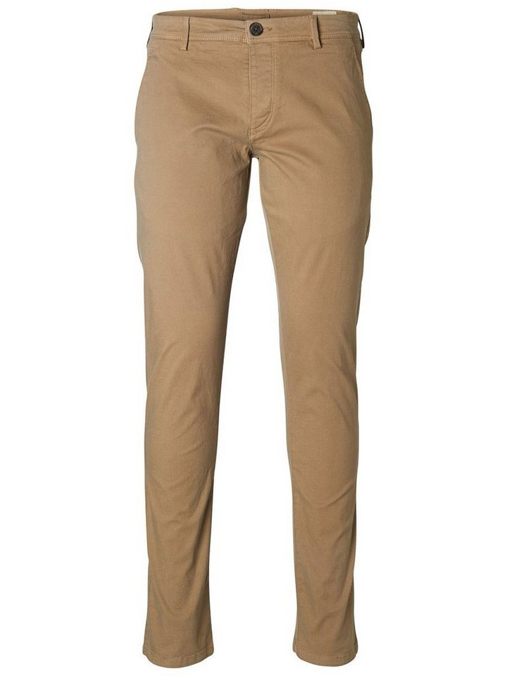 SELECTED Skinny-Fit- Chino in Greige
